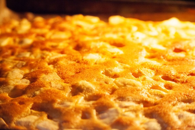 Apfelkuchen aus Rührteig vom Blech