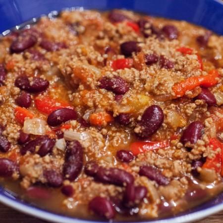 Chili con Carne mit Kidneybohnen.