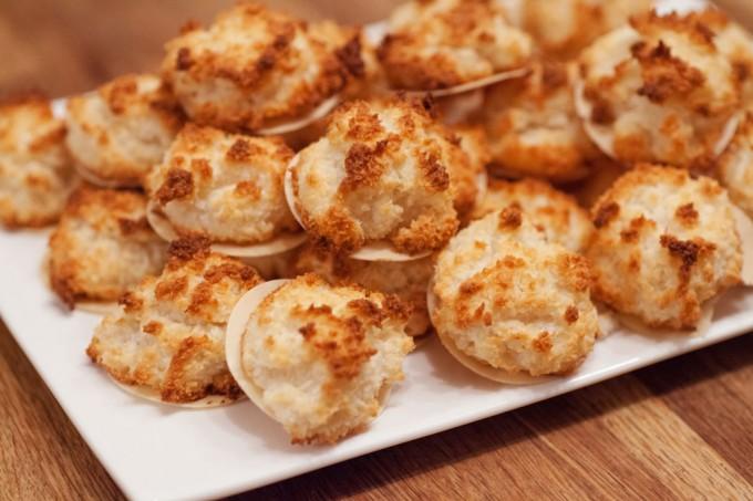 Kokosmakronen mit Marzipan