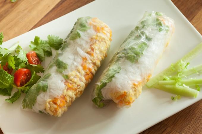 Selbstgemachte Vietnamesische Sommerrolle – vegan