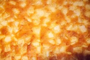 Apfelkuchen aus Rührteig vom Blech.
