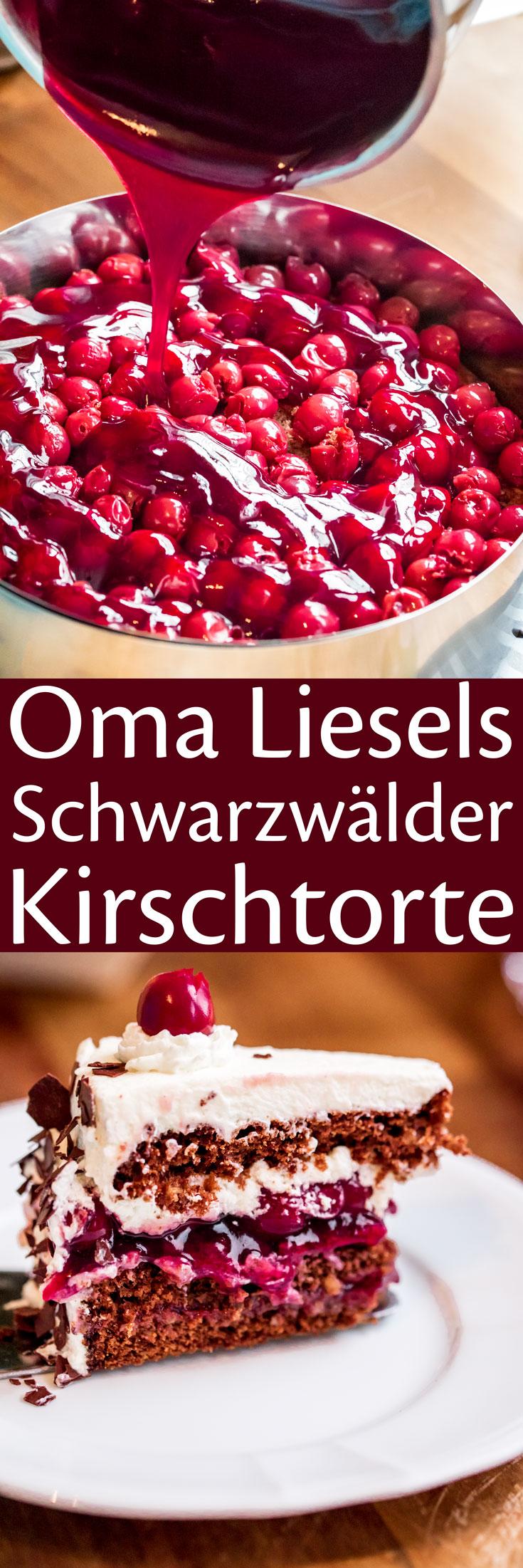 Oma Liesels Schwarzwälder Kirschtorte.